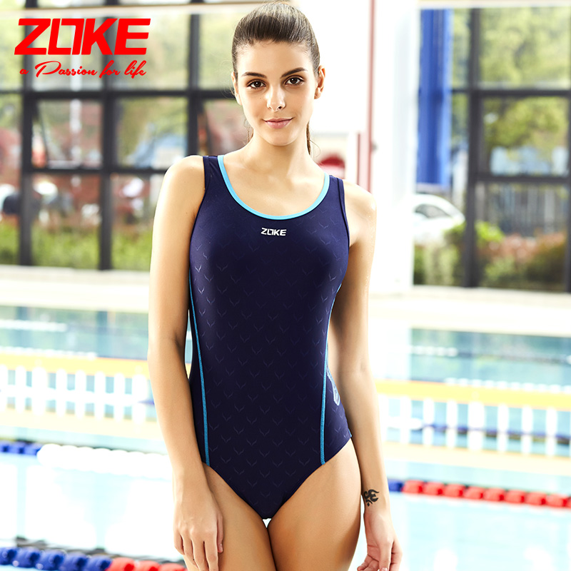 Zoke zhouke one piece delta swimming suit for women to cover their stomach and show their thin body