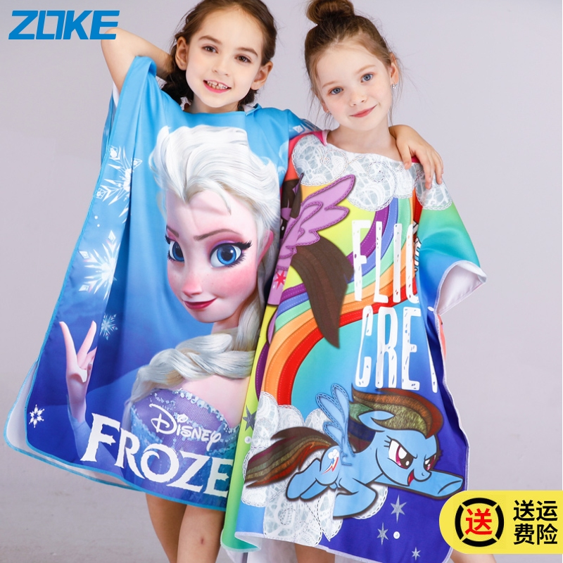 Zoke zhouke fashion childrens mens and womens bathrobes absorbent towel Spider Man cartoon youth quick dry beach towel