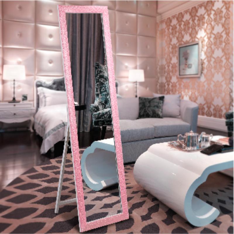 欧式实木全身镜子服装店大试衣镜女卧室宿舍壁挂落地镜家用穿衣镜