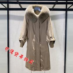 希哥弟思媞2020女装专柜冬装新款高端中长款羽绒服大衣外套女风衣