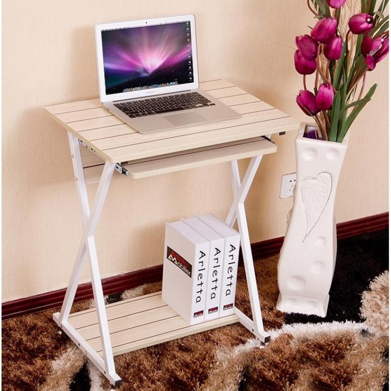 迷你电脑桌现代简约书桌家用省空间写字台式笔记本一体机简易办公