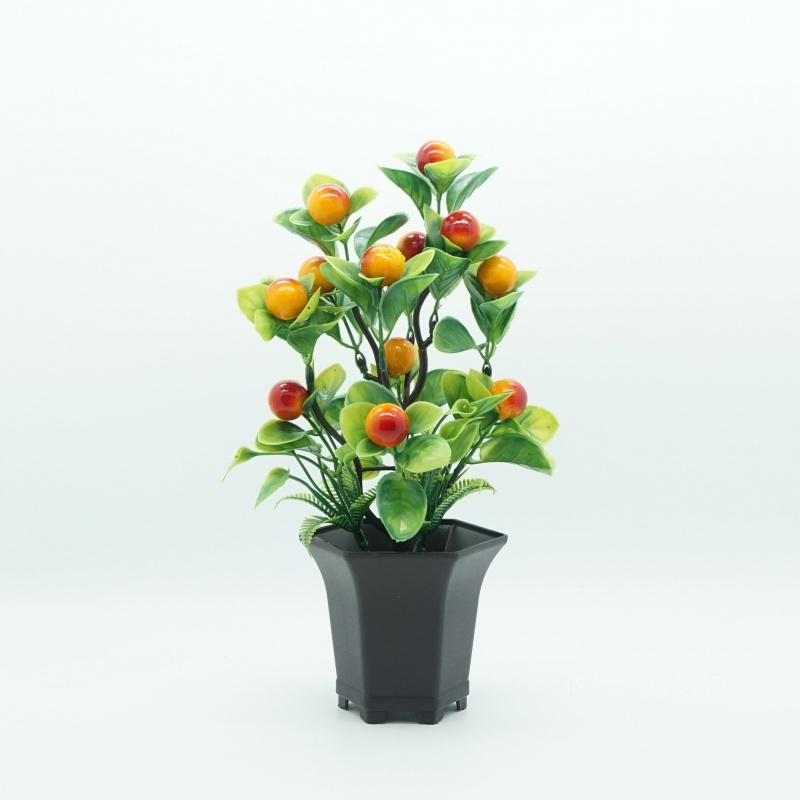 Gift simulation fruit bonsai plastic flower artificial flower small tree bonsai table top decoration flower artificial flower ornament