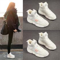 恩施耐克新款高帮潮鞋百搭女鞋秋款运动冬季老爹小白鞋子加绒棉鞋