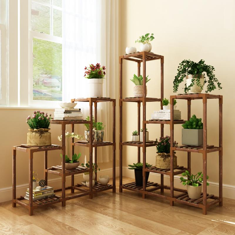 多肉花架子室内实木花盆架置物架