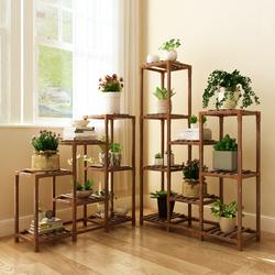 多肉花架子室内实木花盆架客厅多层落地式绿萝盆栽阳台简易置物架