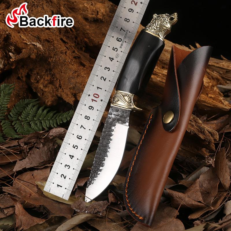 高硬度弹簧钢军刀户外刀具荒野求生刀手工锻打锋利随身收藏防身刀
