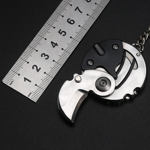 迷你小刀户外多功能折叠刀钥匙扣挂件拆快递刀edc随身便携硬币刀