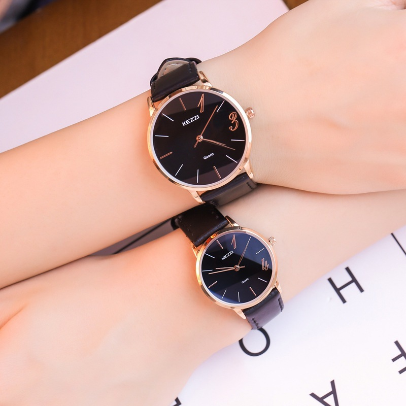 Lovers watch a pair of male and female students Korean Trend simple quartz watch college style nylon canvas calendar