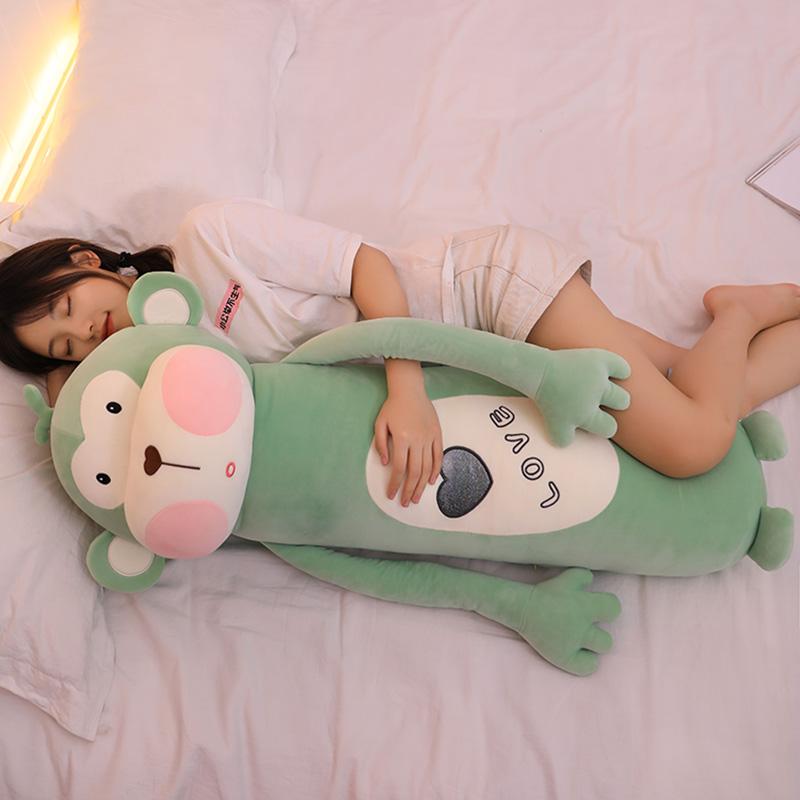 可爱猴子公仔娃娃毛绒玩具婴儿肠绞痛睡觉抱枕女生床上长条枕玩偶