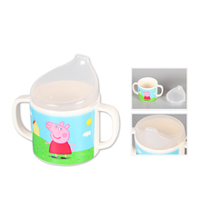 Five and piggy children, cups, cups, babies, drinking cups, drinking cups, children's brushing cups, cartoon cute milk cups.