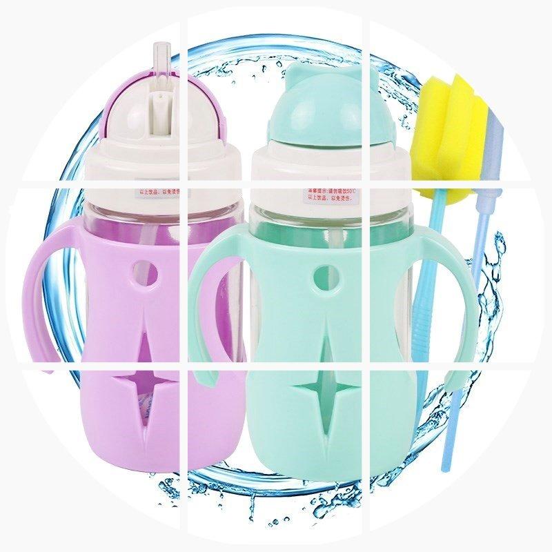 11-06新券新款宝宝玻璃手柄重力球两用学饮杯