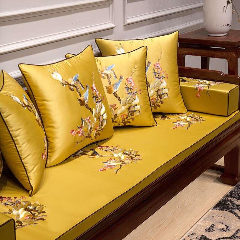 中式抱枕靠垫刺绣沙发靠枕中国风1103新中式客厅家用抱枕套不含芯