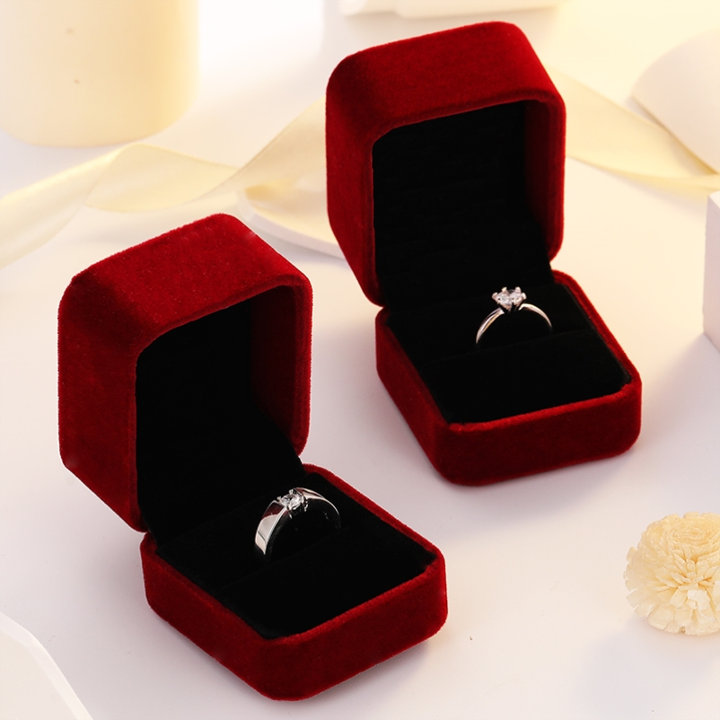 Diamond ring engagement props a pair of open wedding rings adjustable mosang net red live Japanese and Korean wedding