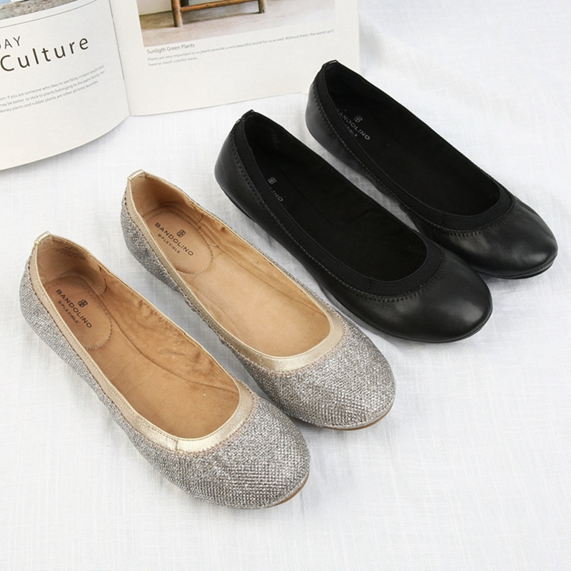 Super soft good goods comfortable large size egg roll shoes womens autumn 2019 new shallow mouth versatile soft ballet flat sole single shoes