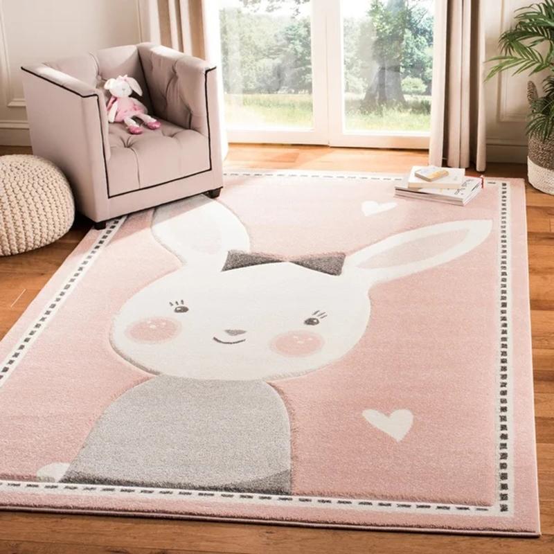 可爱家用儿童房卧室可坐可睡床边毯质量怎么样