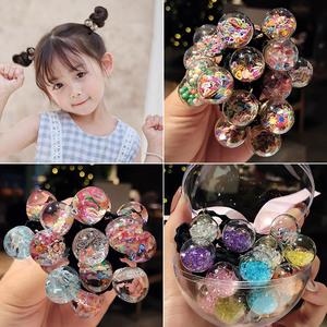 韩国儿童扎头发橡皮筋发绳可爱公主星星头绳发饰女童发圈小孩头饰