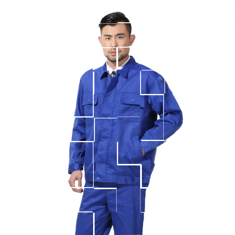 Spring and autumn winter work clothes, mechanical clothing, factory uniform, engineering uniform, artificial factory clothes, men and women, long work clothes.