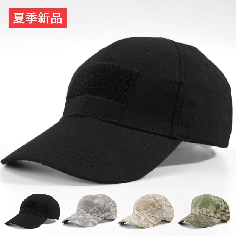 迷彩帽子特种兵之火凤凰军迷帽魔术贴棒球帽男户外黑色鸭舌帽