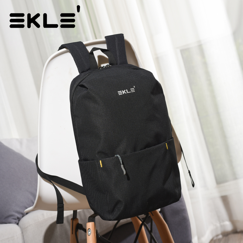 Ekle backpack mens small backpack Mini leisure light and simple travel bag student fashion book bag