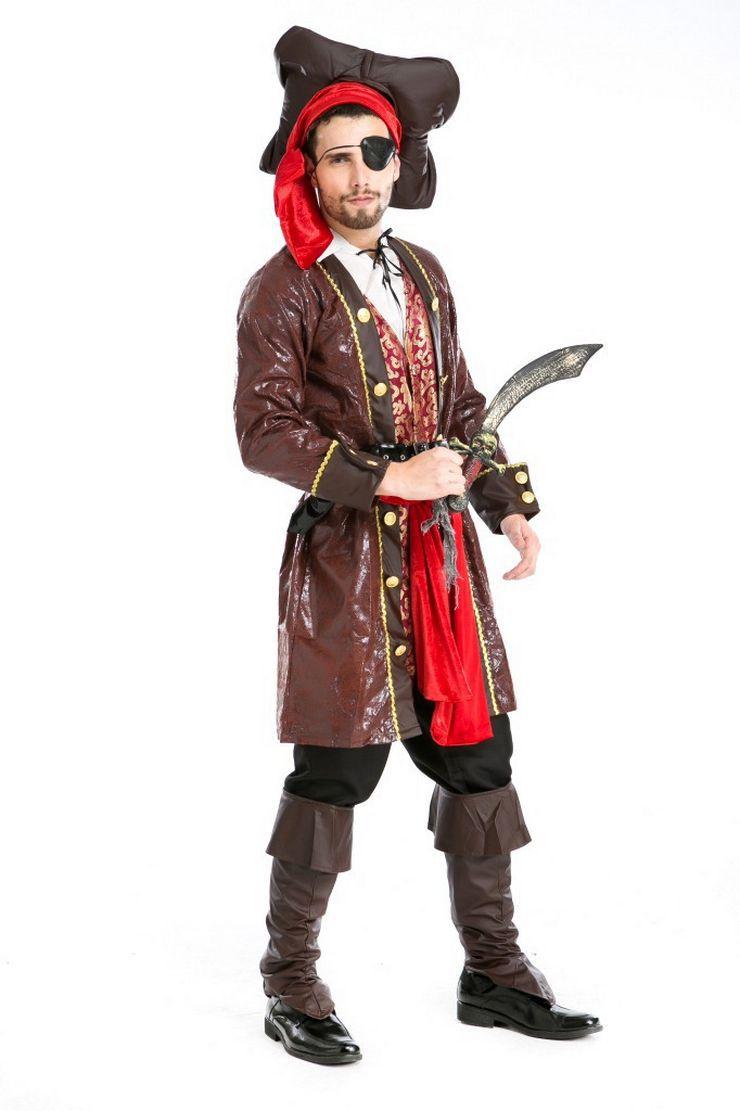 万圣节舞台装海盗角色扮演服装独眼海盗装话剧角色扮演服演出服