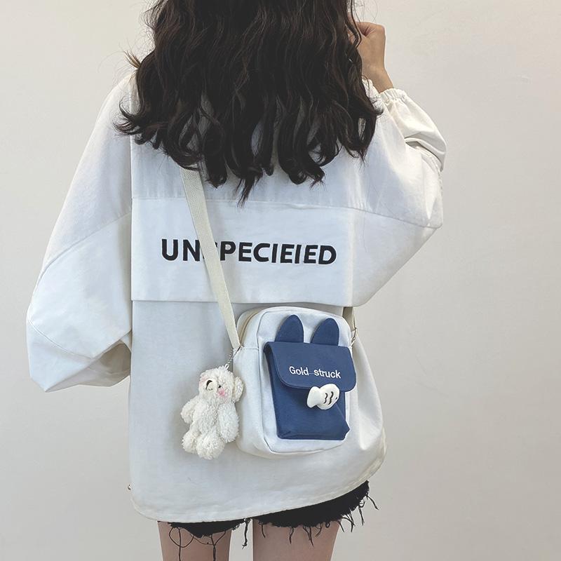 网红小包包女2020新款潮韩版可爱斜挎包女百搭ins学生少女帆布包