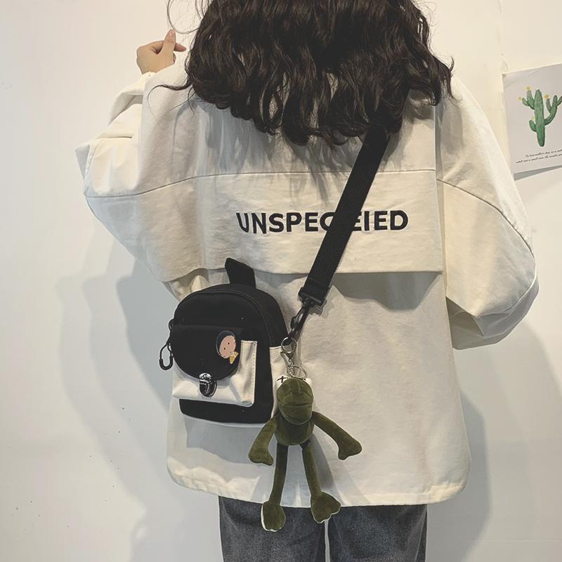 网红同款小包包女2020新款斜挎潮单肩学生百搭ins休闲韩版帆布包