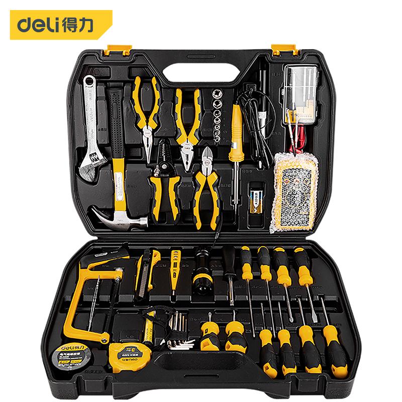 得力电工工具组套家用电讯带工具箱好不好