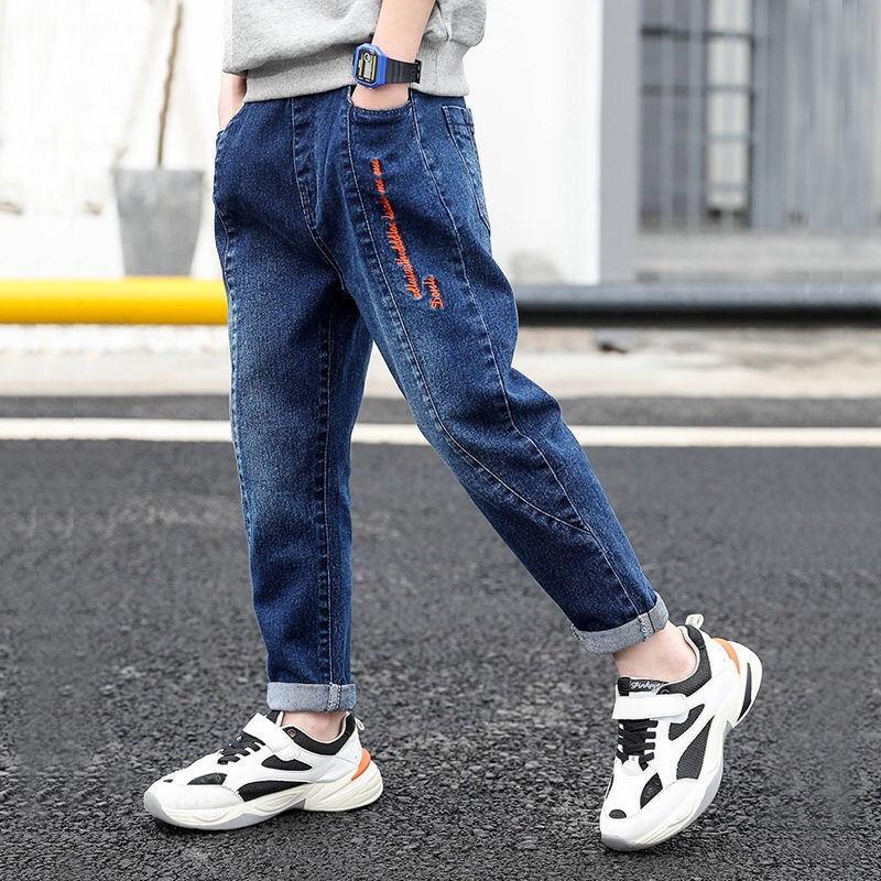 童装男童牛仔裤儿童秋装裤子2019新款冬款加绒中大童男孩棉裤长裤