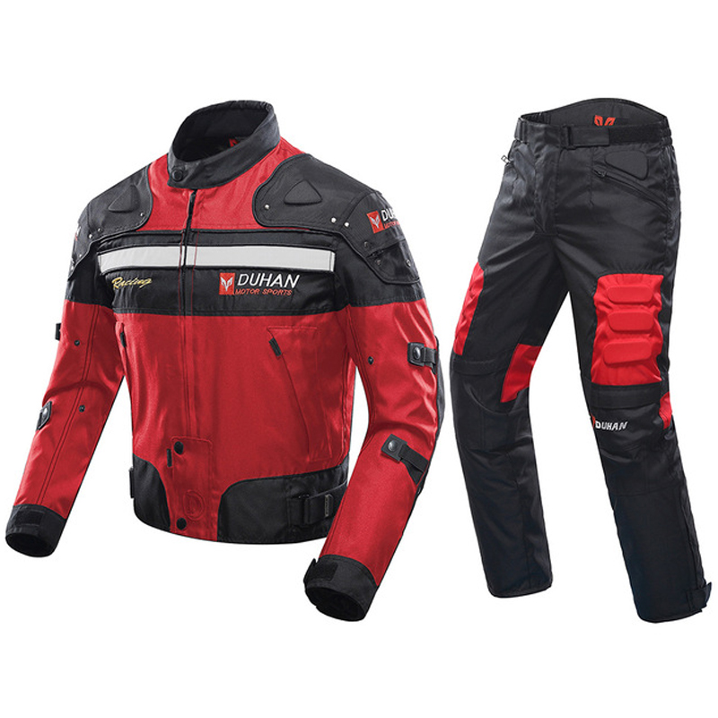 Duhan motorcycle riding suit autumn and winter mens suit four seasons fall proof motorcycle suit racing suit jacket Knight suit
