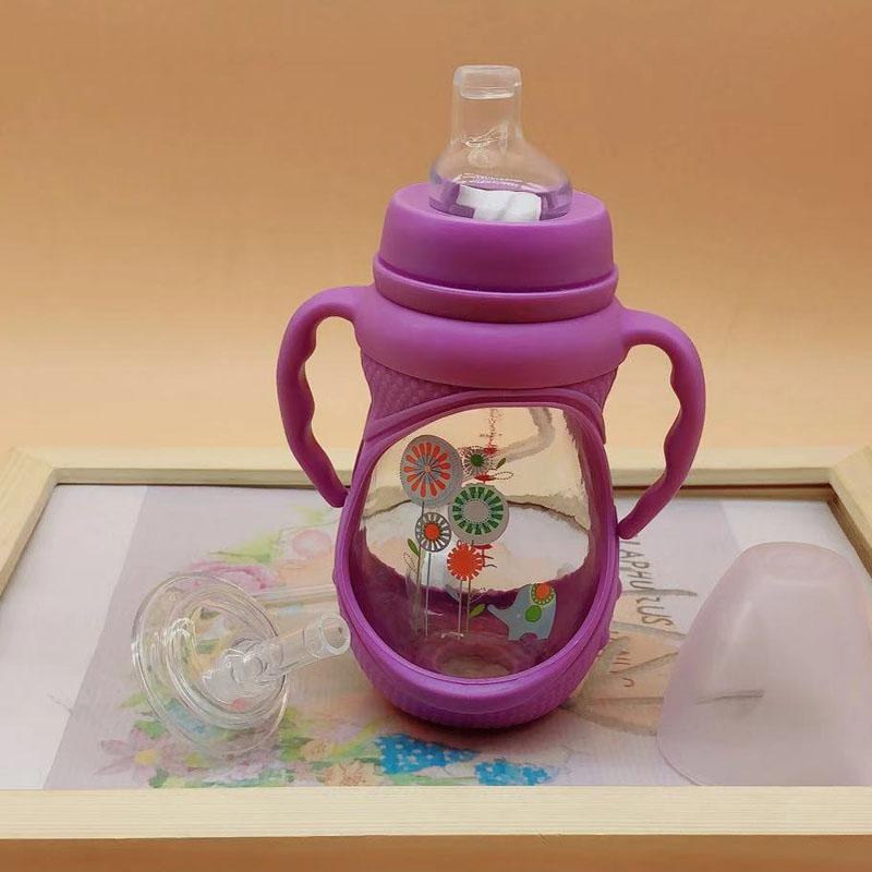 中国小孩防漏幼儿防呛玻璃饮水杯满40.80元可用1元优惠券