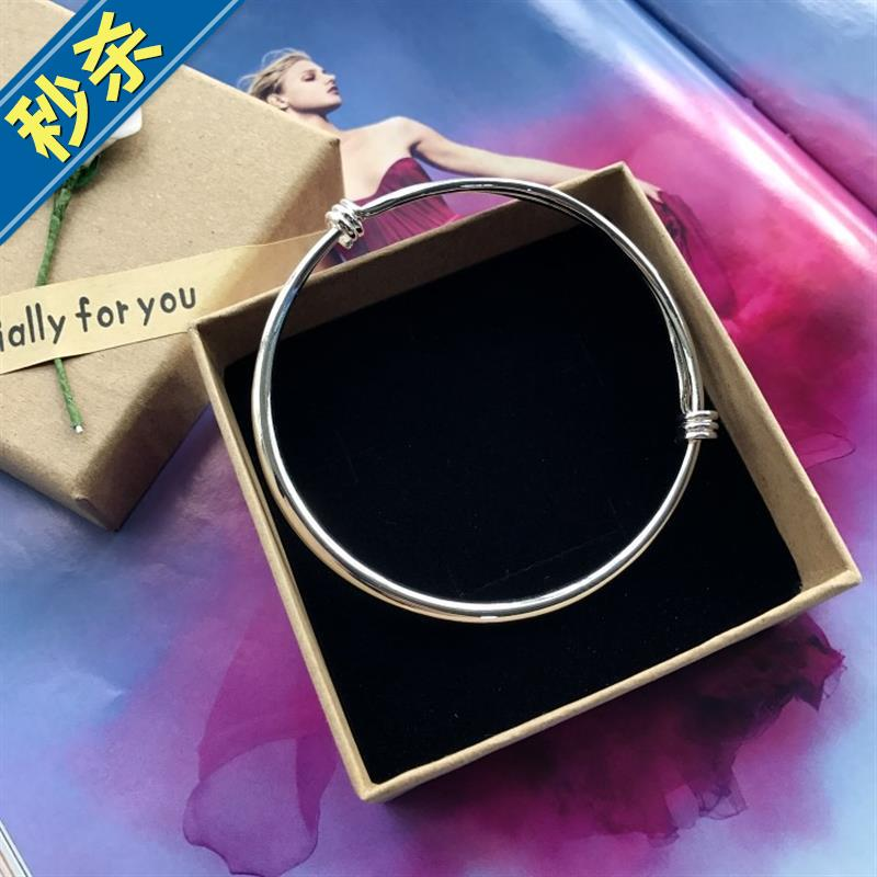New product Korean small bell Bracelet Silver Fashion Chain girl smooth face simple 16 versatile temperament foot ring