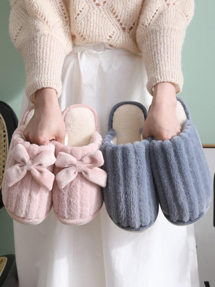 新款情侣居家棉拖鞋女厚底室内月子鞋韩版家用冬天可爱保暖冬季男