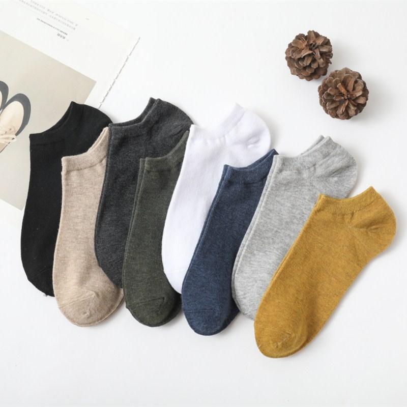 袜子男士短袜船袜夏季薄款棉袜低帮浅口短口潮流床袜低腰外子祙子