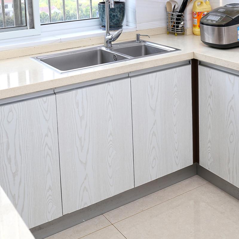 木纹贴纸木门衣柜橱柜自粘加厚卧室门贴纸柜防水仿木家具翻新贴纸