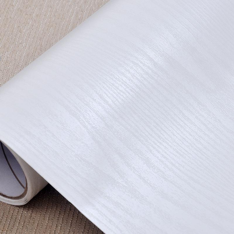 家具翻新贴纸衣柜柜子木门鞋柜橱柜贴白色自粘墙纸门装饰木纹贴纸