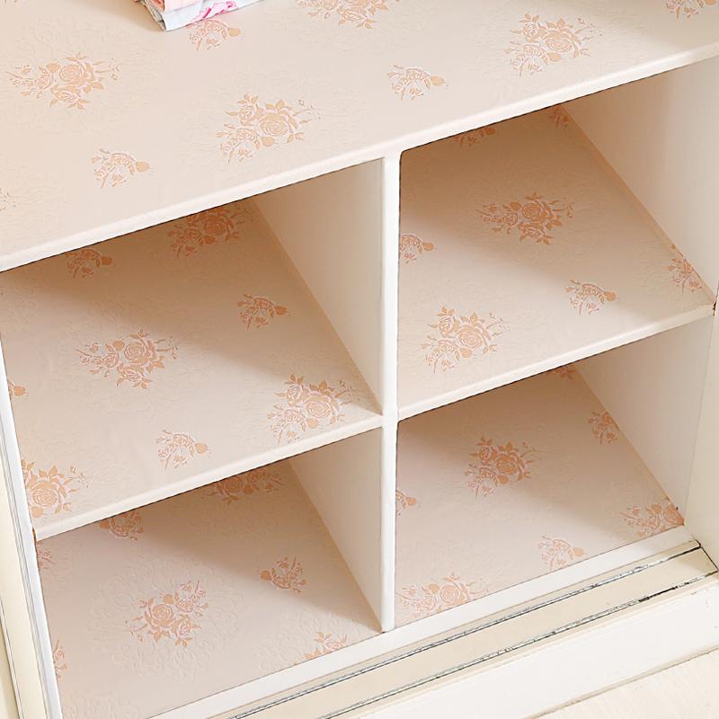 衣柜翻新贴纸自粘防潮垫纸学生宿舍卧室温馨装饰柜子抽屉内部改造