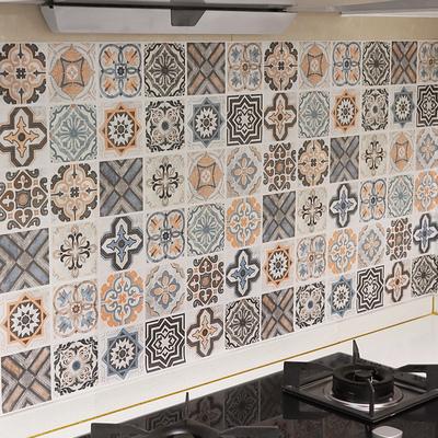 厨房贴纸防水防油自粘墙纸耐高温墙贴墙壁装饰柜灶台用加厚瓷砖贴