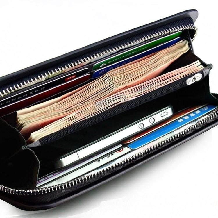 Mens wallet long zipper hand bag multi function Business Wallet Handbag mans mobile phone bag large capacity multi card position