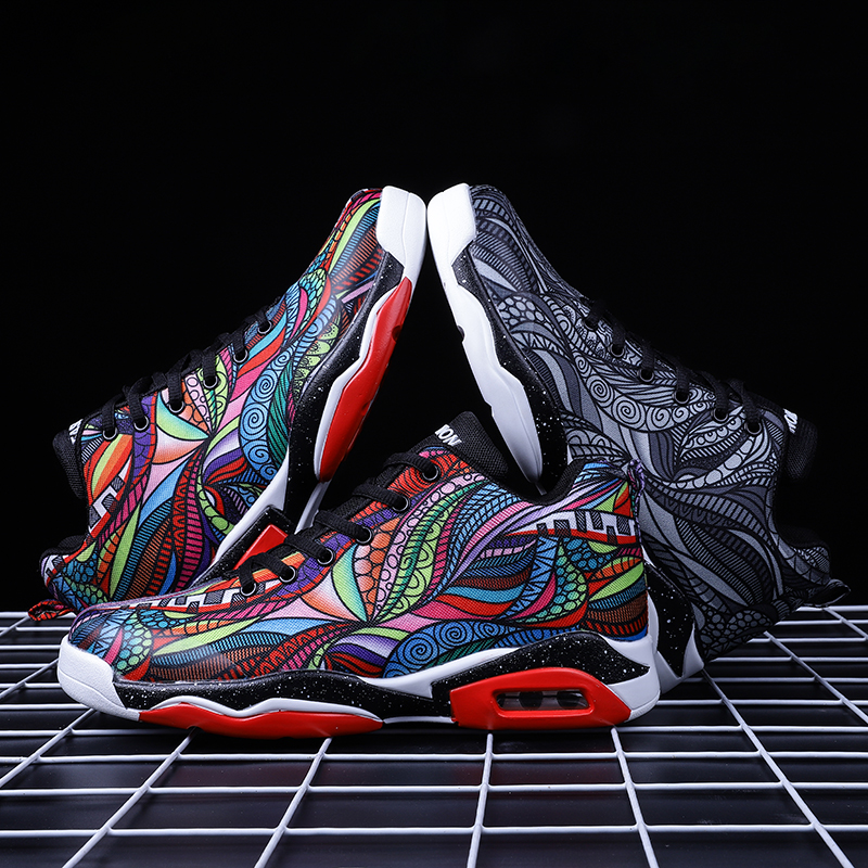 Authentic Yian snow walking summer shoes mens breathable high top basketball wave shoes mens sports leisure versatile middle school students