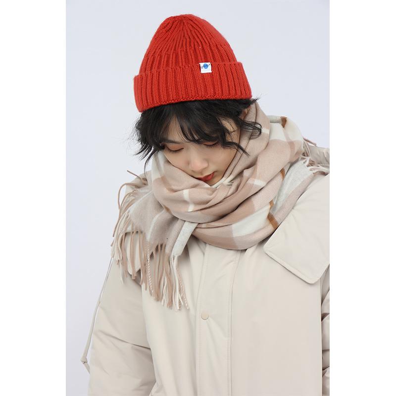 中国纪念日百货女装2021冬季新品格纹撞色围巾女NA细条纹羊毛围巾