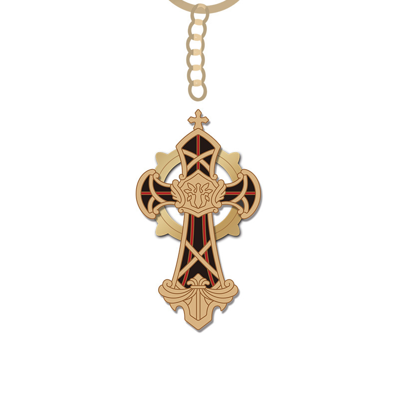 Collapse school 3 two dimensional surrounding Teresa same Judas weapon pendant key chain robot Cat Brooch