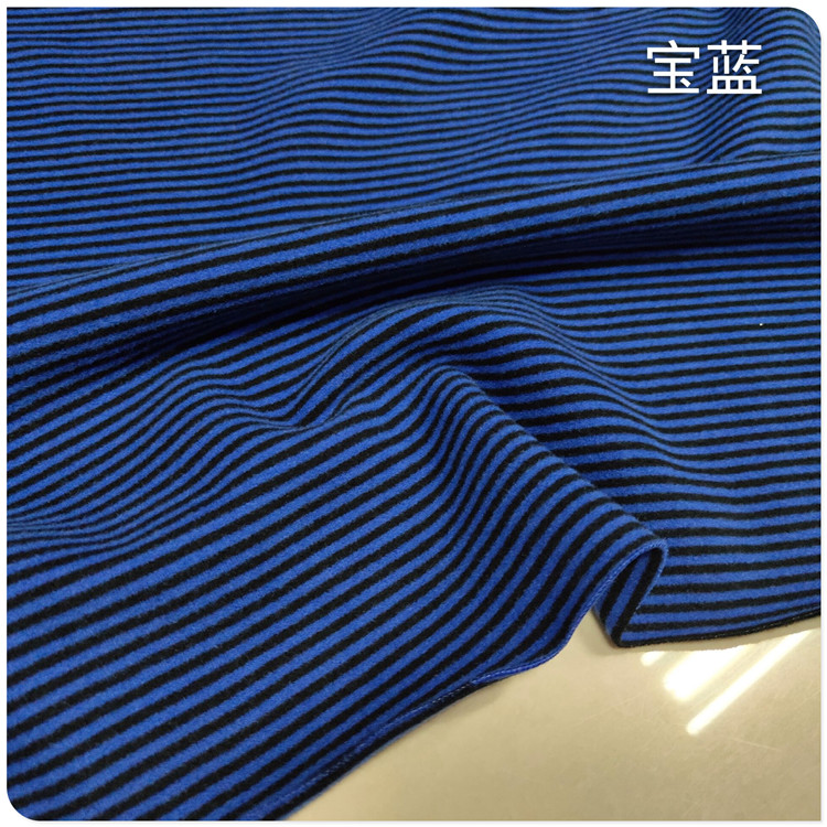 Chinese double faced velvet fabric backing Shirt Long Sleeve Dress Pants warm fabric high elastic fine stripe in autumn and winter