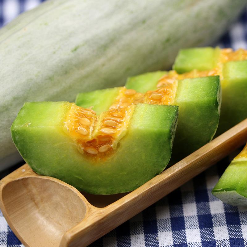 山东羊角蜜甜瓜净重4.5斤新鲜当季水果甜脆香蜜瓜整箱现摘现发图片