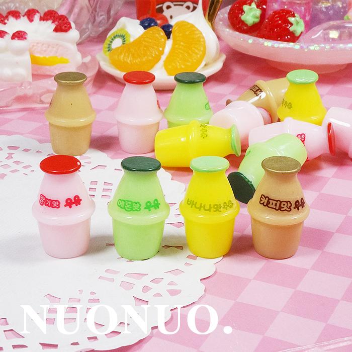 DIY仿真奶油手机壳树脂配件立体韩国饮料瓶酸奶罐饰品材料