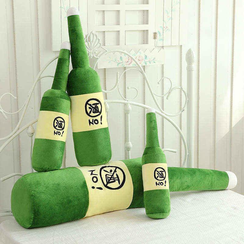 中國代購 中國批發-ibuy99 毛绒玩具 啤酒瓶创意公仔长条毛绒玩具床上抱枕男生版睡觉玩偶大男孩布娃娃