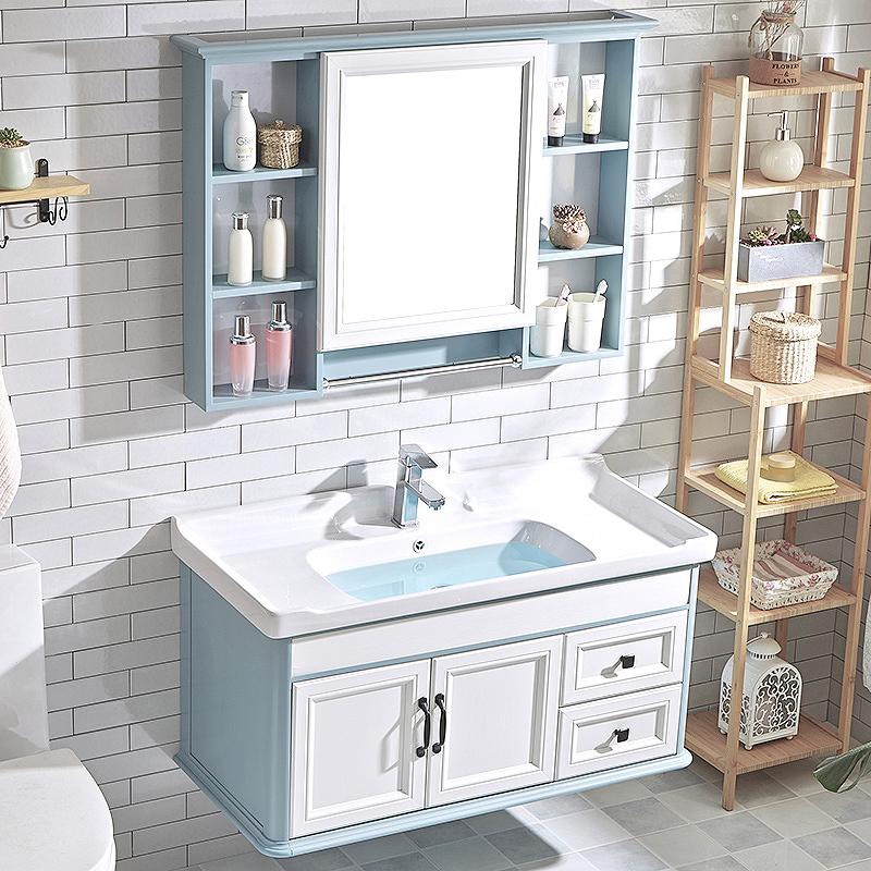 枚洁卫浴简约现代浴室柜组合挂墙式卫生间洗漱台面盆洗手池脸盆柜需要用券