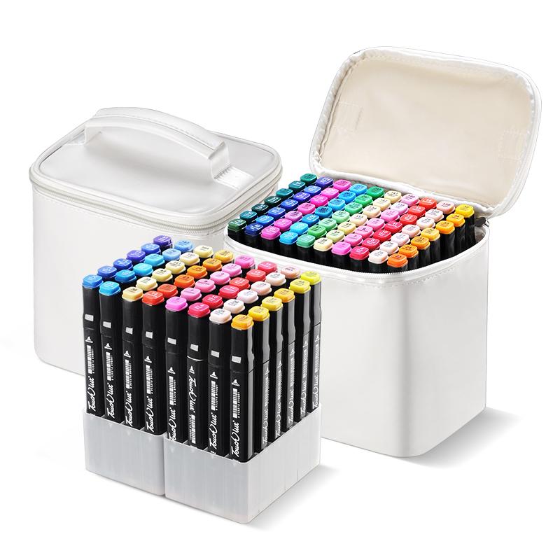 塔奇丽特马克笔套装 学生三代油性双头绘画笔彩色动漫专用绘画彩笔水彩笔30 36 48 60 80 168色全套touch正品