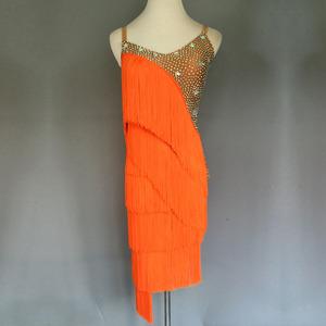 裳工坊 新款流苏拉丁舞裙成人拉丁舞表演比赛服少儿演出服女B83