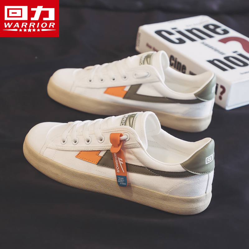 タオバオ仕入れ代行-ibuy99 男士鞋子 回力帆布鞋男鞋2021年新款秋季潮鞋子透气百搭小白鞋夏季休闲板鞋
