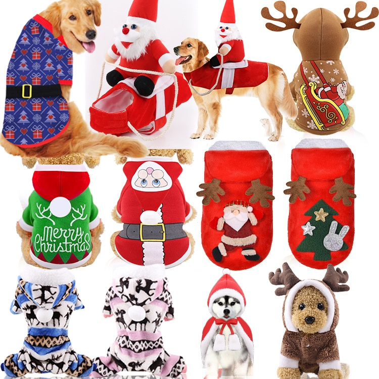 Dog clothes and shoes small, medium and large dog clothes Christmas clothes pet clothes cat clothes